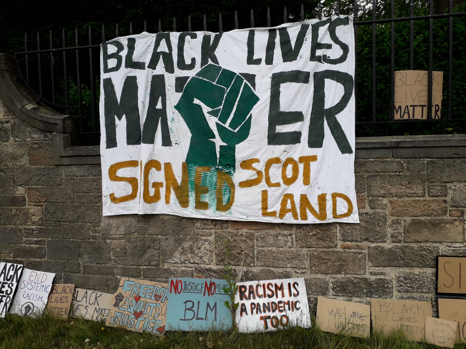 Black Lives Matter in Scotland, 7 June 2020